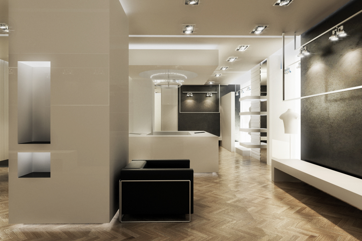 Showroom bonavita roma rendering esterni rendering for Rendering case moderne
